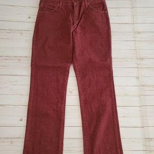 Vintage Maroon Wrangler Jeans Size 36/32